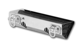 Rugged Ridge HXD Light Mount Front Bumper, Stainless Steel  (Part Number: )