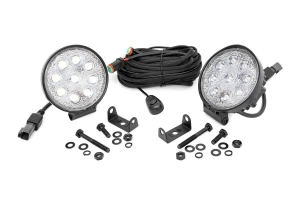 Rough Country LED Round Lights 4in (Part Number: )