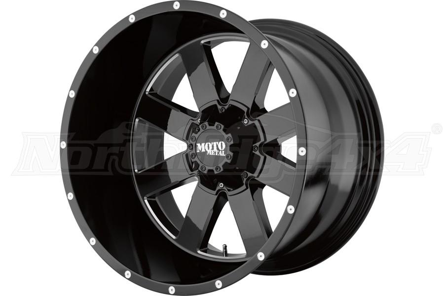 Moto Metal Wheels MO962 Series Wheel, Gloss Black 20x9 5x5/5x5.5  - JT/JL/JK