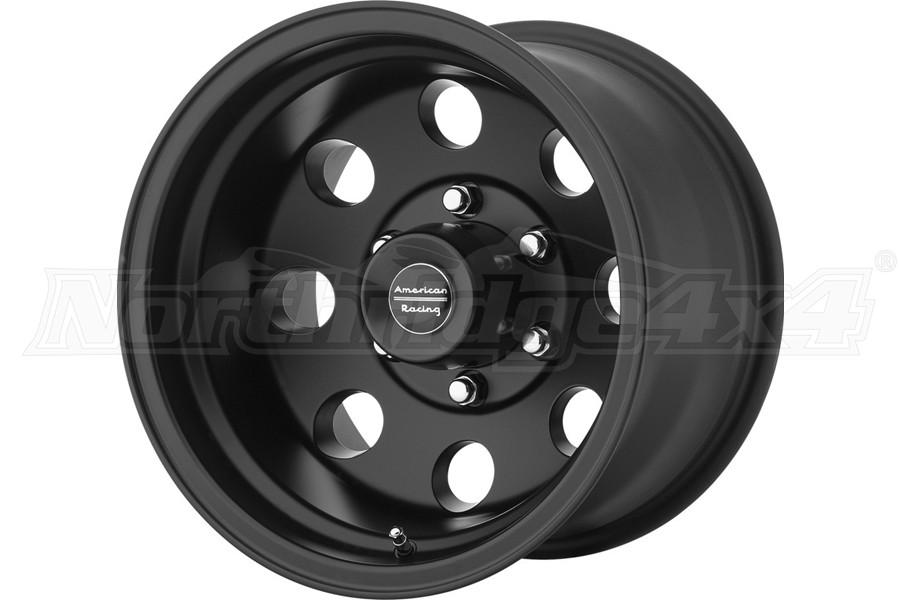 American Racing Wheels AR172 Series Baja Wheel, Satin Black 15x8 5x5 - JT/JL/JK