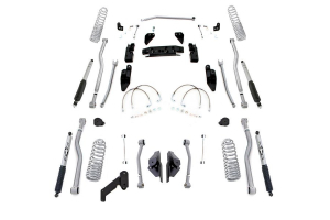 Rubicon Express Progressive Coil Extreme Duty 4-Link Long Arm Lift Kit 3.5in w/Mono Tube Shocks (Part Number: )