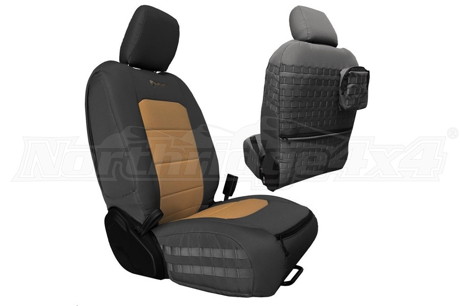 Bartact Tactical Front Seat Covers Graphite/Khaki (Part Number:JLTC2018FPGK)