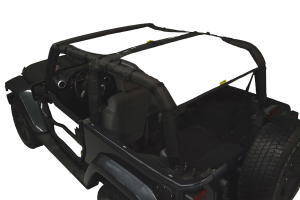 Dirty Dog 4x4 Sun Screen Rear Only White - JK 2DR