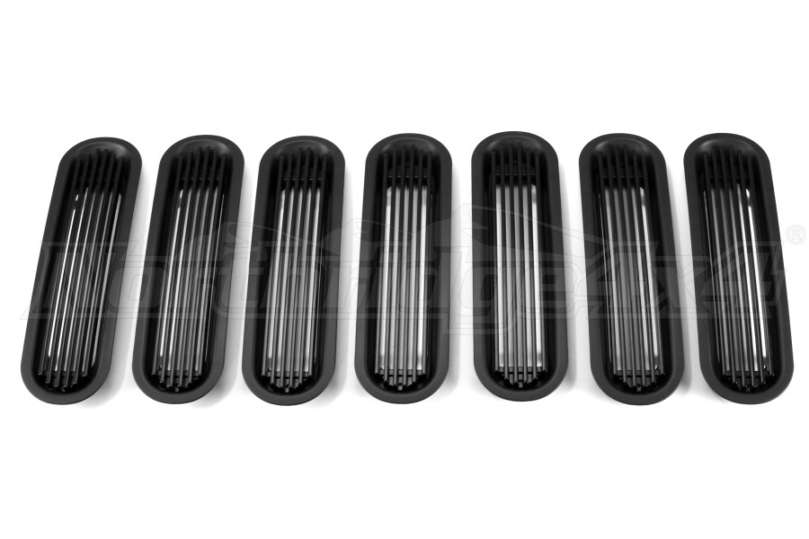 Rugged Ridge Outer Rings w/Billet Grill Inserts Black - JK