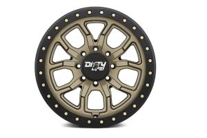 DIRTY LIFE DT-1 9303 SERIES Beadlock Wheel, Satin Gold 17X9 5x5 - JT/JL/JK