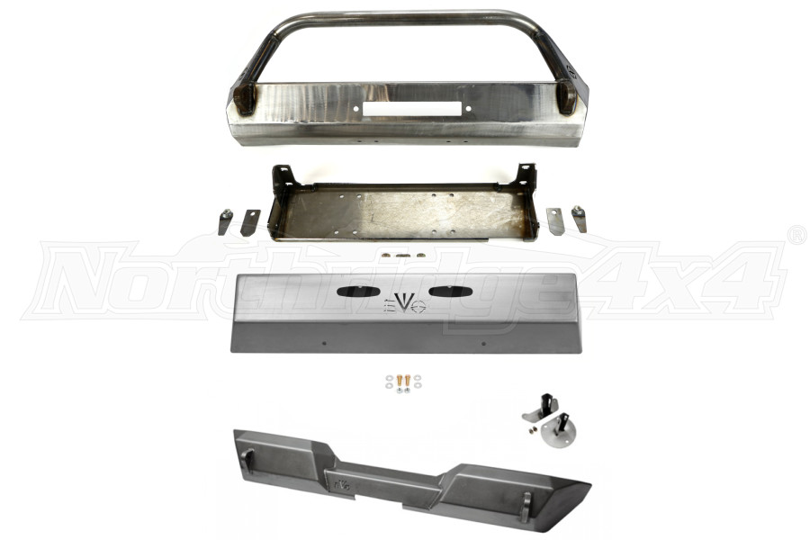EVO Manufacturing Pro Series Front and Rear Bumper w/Front Skid Plate Package (Part Number:PKG8)