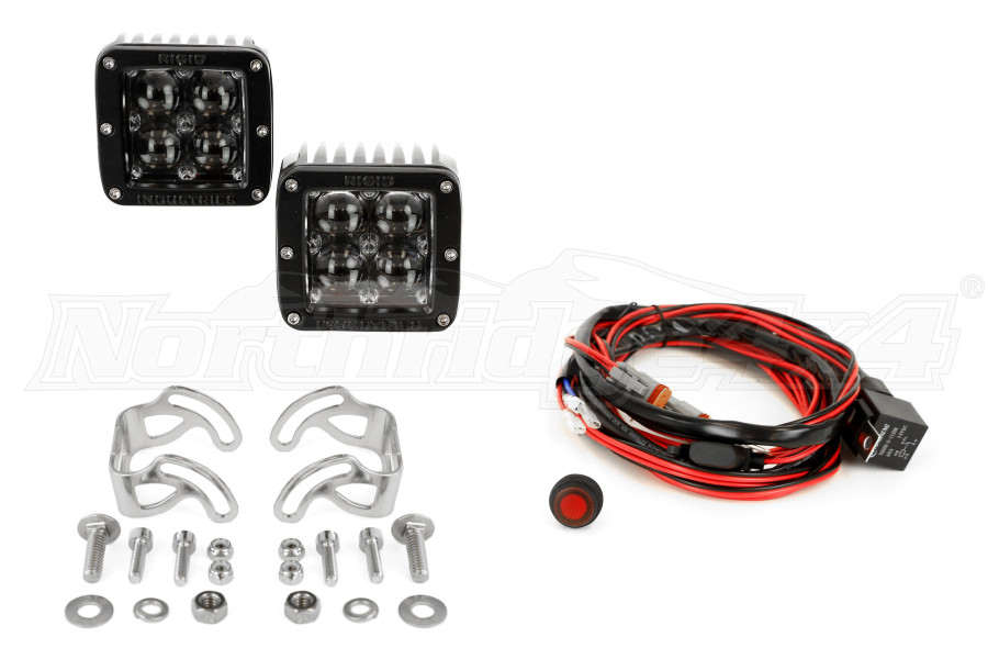 Rigid Industries 504713 LED White Hyperspot Light D2 Series Pair Universal