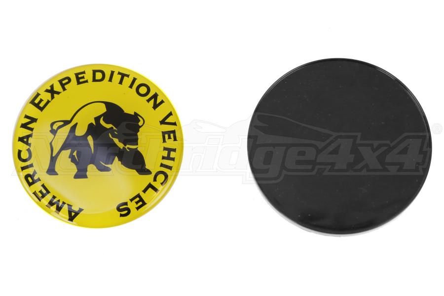 AEV Wheel Center Cap Yellow w/ Logo
