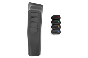 Rugged Ridge A-Pillar 4-Switch Pod w/Rocker Switches - JK