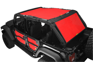 Dirty Dog 4x4 Sun Screen 1 Piece Front and Back Red (Part Number: )