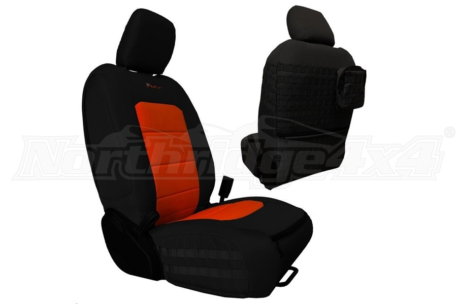 Bartact Tactical Front Seat Covers Black/Orange - JL 4dr