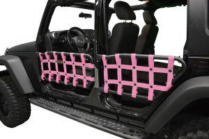 Dirty Dog 4X4 Olympic Front & Rear Tube Door Netting, Pink (Part Number: )