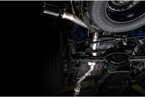 AWE Tread Edition Cat-Back Single-Side Exhaust - Diamond Black Tip - JT 3.6L