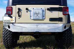 Nemesis Industries Odyssey Rear Bumper w/Rigid Flush Mount Lights - Bare, Aluminum  - JK