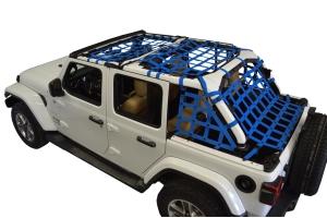 Dirty Dog 4x4 5pc Cargo Side Netting Kit, Blue - JL 4Dr