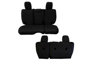 BARTACT Seat Cover Rear Black/Black - JL 4dr