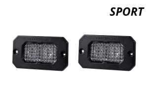 Diode Dynamics SSC2 2IN Sport Flush Mount LED Fog Pair, WBL