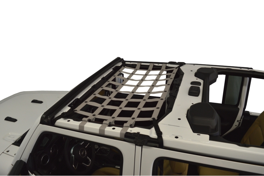 Dirty Dog 4x4 Front Seat Netting, Grey - JL 4Dr