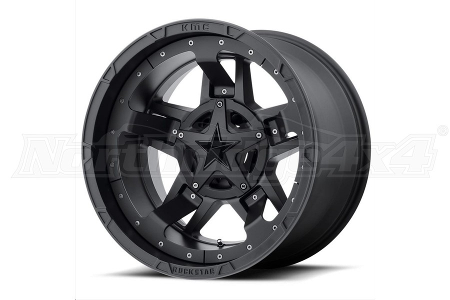 XD Series XD827 Rockstar III Non-Beadlock Wheel Matte Black, 18x9 5x4.5/5x5  (Part Number:XD82789054700)