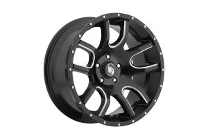 Pro Comp LRG 108 Black/Milled 20x12 5x5 - JK/JL