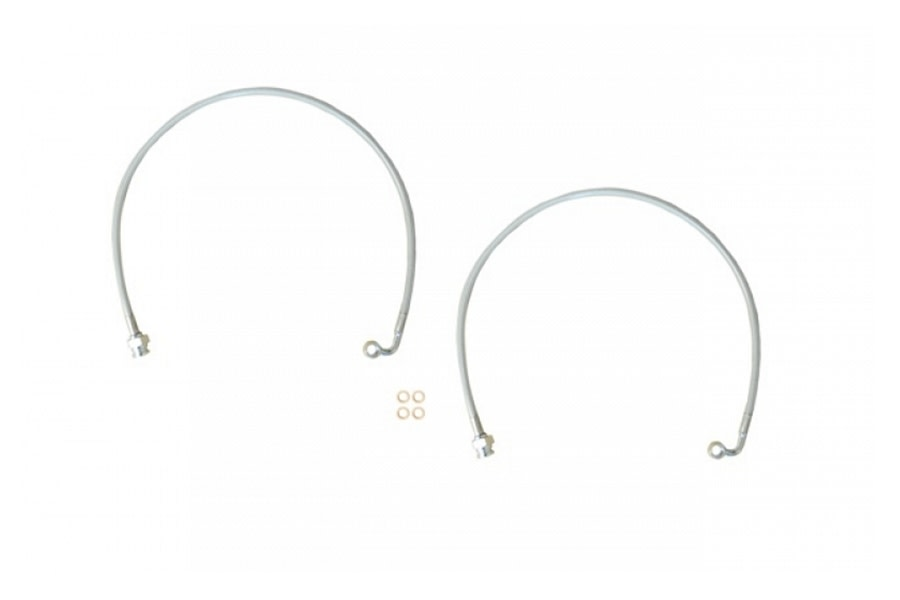 EVO Manufacturing D44 Rear Brake Line for 2.5in Lift - Pair  - JL