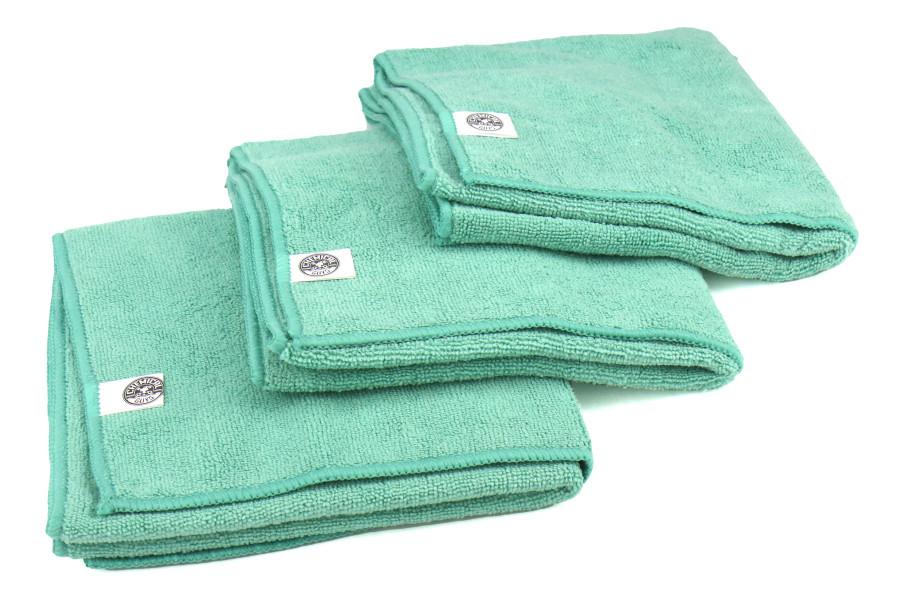 Chemical Guys Workhorse Professional Grade Microfiber Towel Green - 3 Pack