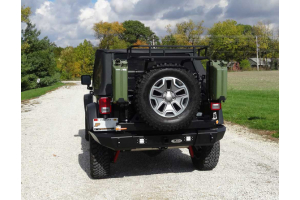 LOD Signature Series Armor Lite Gen 4 Full Width Rear Bumper w/Tire Carrier and Rigid Light Cut Outs ( Part Number: STC1001R)