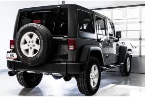 AWE Tread Edition Axle-Back Dual Exhaust - Diamond Black Tips - JK 2012+ 3.6L