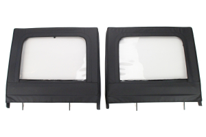 Rugged Ridge Rear Upper Soft Doors Diamond Black ( Part Number: 13712.15)