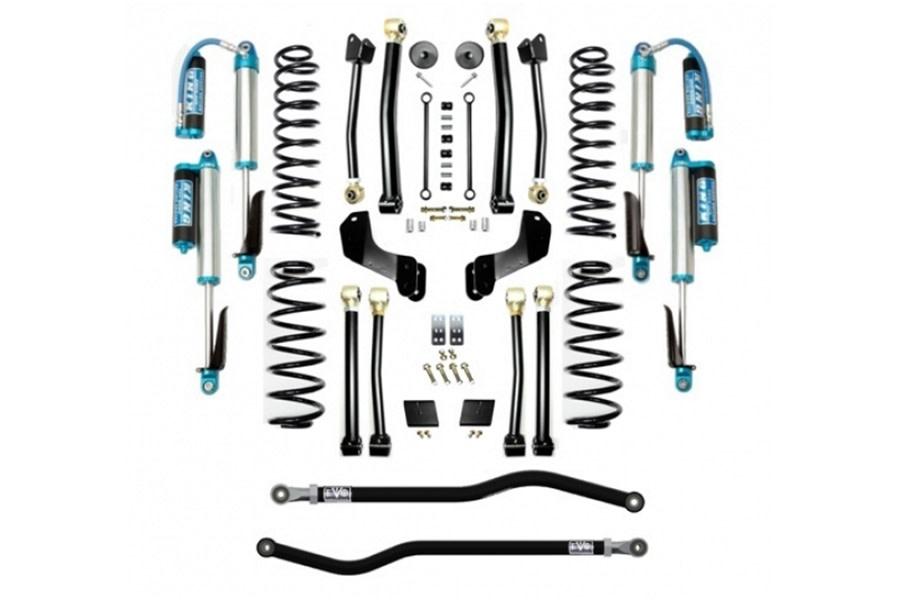 Evo Manufacturing 2.5in Enforcer Overland Stage 4 PLUS Lift Kit w/ Comp Adjuster Shocks - JL Diesel