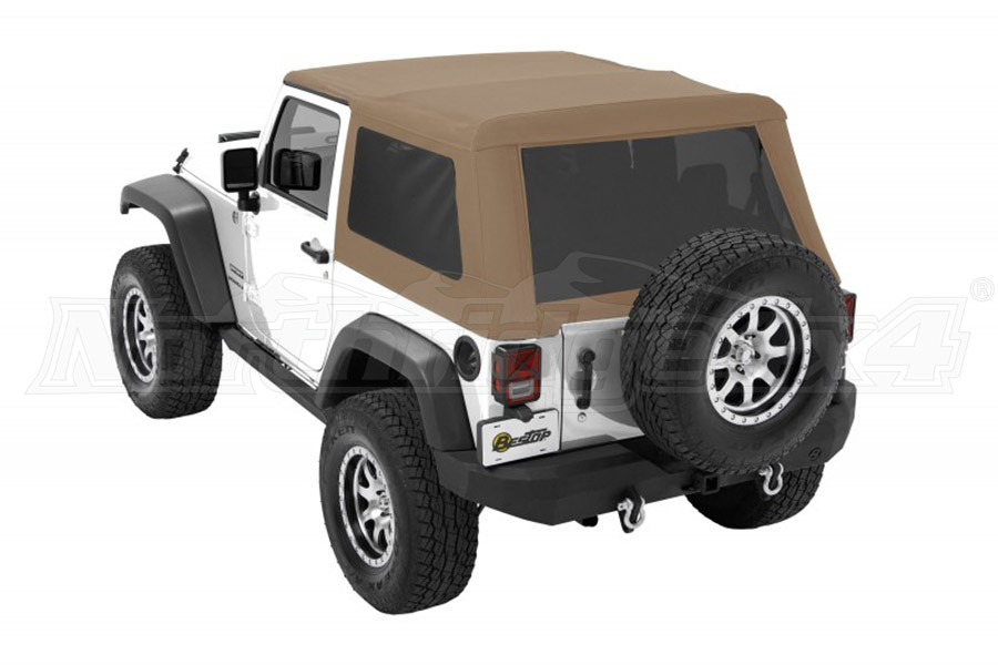Bestop Trektop NX Glide Soft Top with Tinted Side & Rear Windows - Tan Twill (Part Number:54922-71)