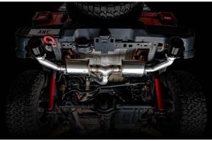 AWE Tread Edition Axleback Dual Exhaust - Diamond Black Tips - JL 3.6L/2.0L