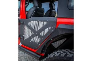 DV8 Offroad Rear Aluminum Half Doors w/ Mesh Screens - JT/JL 4Dr