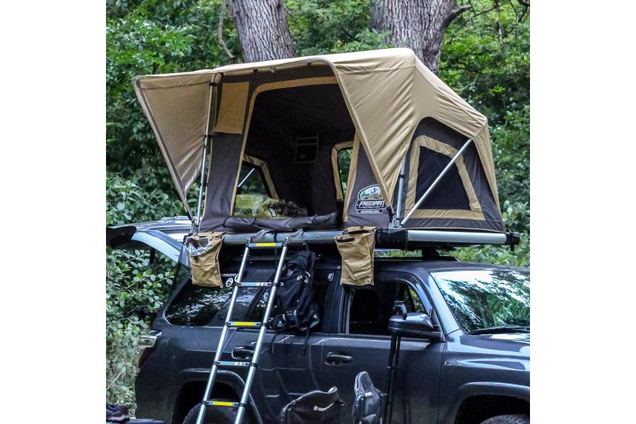 Freespirit Recreation Adventure Series Manual 49in Roof Top Tent, Grey/Yellow (Part Number:RTAM49335)