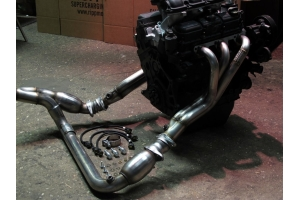 RIPP Superchargers Long-Tube Headers w/Hush Power Resonator (Part Number: )