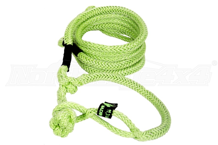 VooDoo Offroad Recovery Rope w/Soft Shackles, Green 1/2in x 16ft