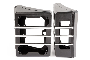 Rugged Ridge Elite Tail Light Guards, Brushed Black (Part Number: )