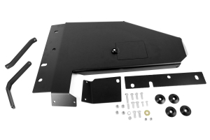 Rock Hard 4x4 Aluminum Short Arm Oil Pan/Transmission Skid Plate Kit Black ( Part Number: RH6043)