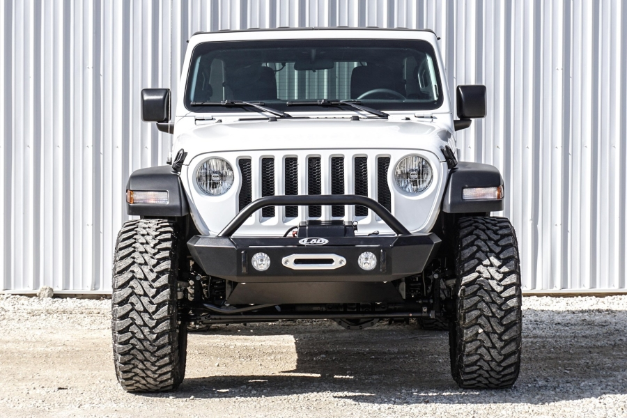 LOD Signature Series Shorty Front Bumper without Bull Bar for Warn Power Plant Winch - JT/JL