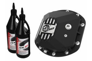 AFE Power Pro Series Dana 30 Front Differential Cover w/Gear Oil - Black - JK/LJ/TJ