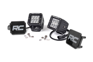 Rough Country 2in Chrome Series Square Lights (Part Number: )