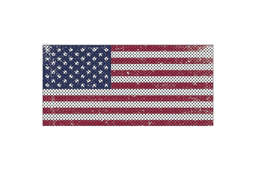 Under The Sun Inserts Distressed Old Glory Grill Insert (Part Number:INSRT-DTROG-JL)