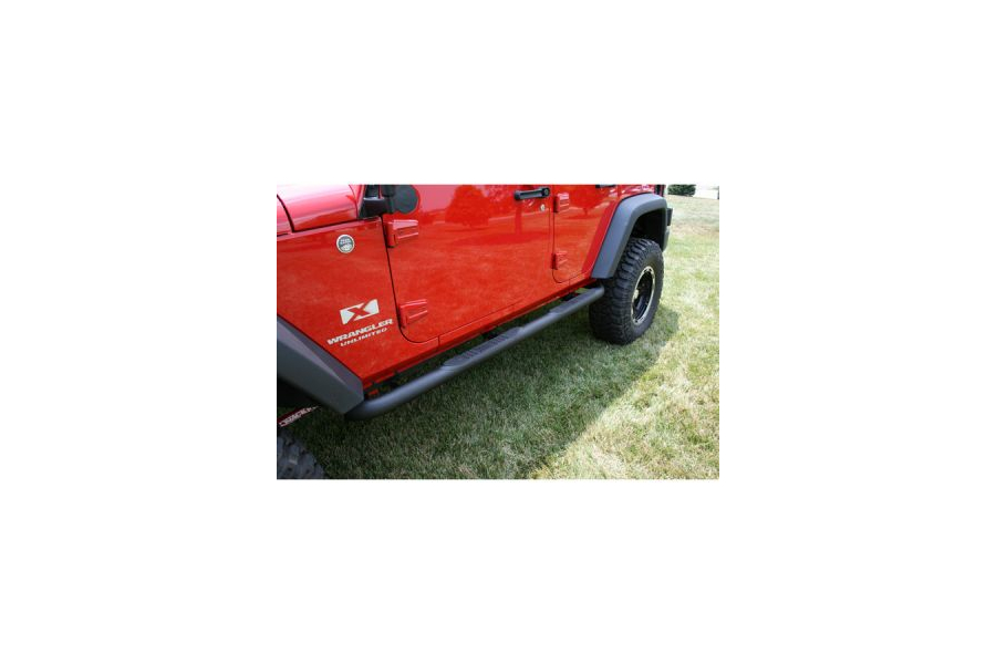 Rugged Ridge 3in Tube Side Steps Textured Black (Part Number:11591.06)
