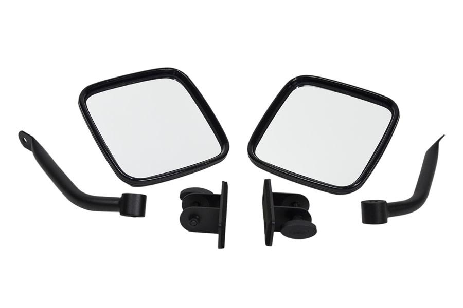 Kentrol E-Z Detach Mirror Set - Textured Black  - JK/TJ