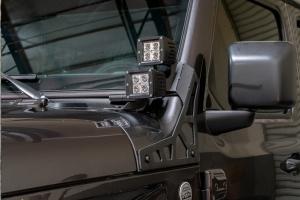 DV8 Offroad Dual A-Pillar Pod LED Light Mount - JL