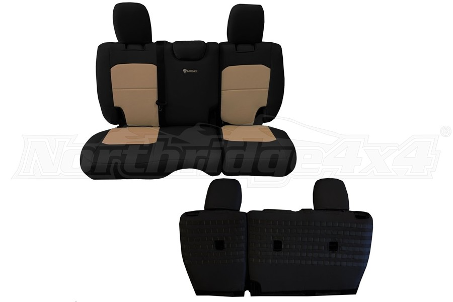 BARTACT Seat Cover Rear Black/Khaki (Part Number:JLSC2018R4BK)