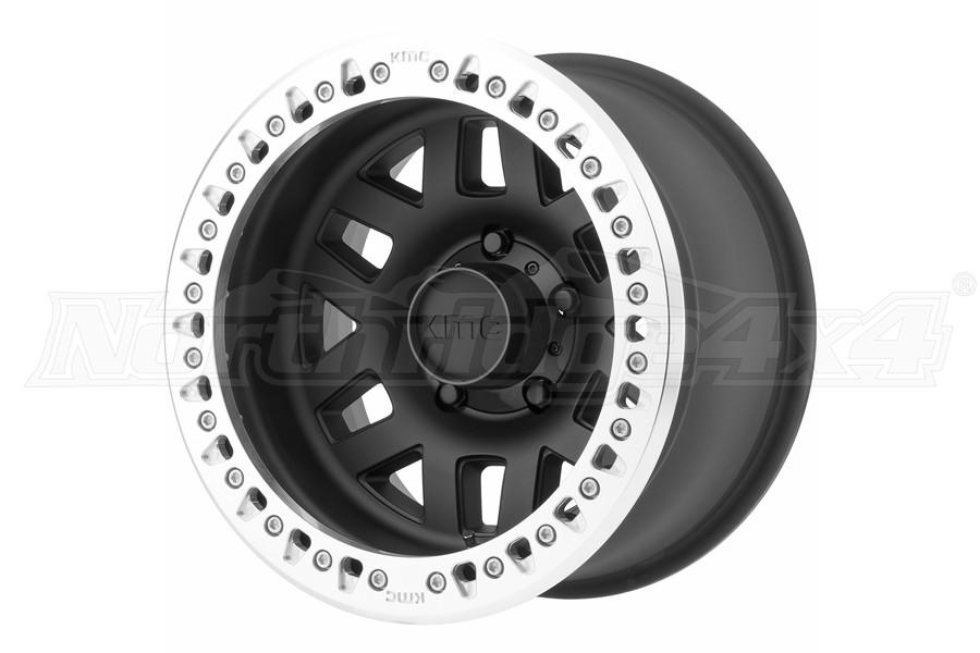 KMC Wheels KM229 Machete Crawl Beadlock Satin Black Wheel 17X9 8X6.5