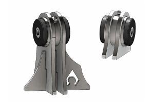 Artec Industries Low-Pro Front Truss UCA Brackets - Daystar Bushings, 7/16in - TJ/LJ/JK