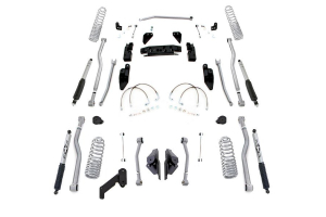 Rubicon Express Progressive Coil Extreme Duty 4-Link Long Arm Lift Kit 3.5in w/Mono Tube Shocks ( Part Number: JK4423PM)