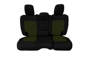 Bartact Tactical Rear Seat Cover w/Fold Down Armrest Black/Olive Drab (Part Number: )